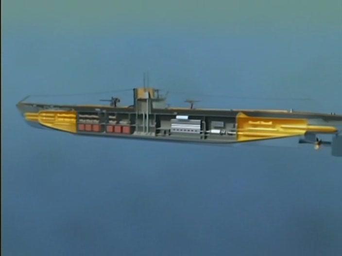 Немецкие подводные лодки Цветная кинохроника Второй